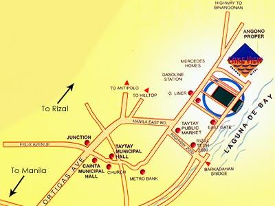 Rizal Philippines Map.Philippinescondominium Com Lake View Angono Rizal Philippines